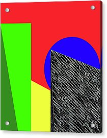 Geo Shapes 3 Acrylic Print by Bruce Iorio