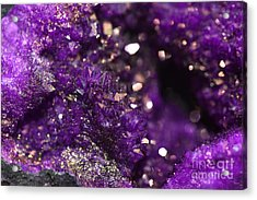 Geode Abstract Amethyst Acrylic Print