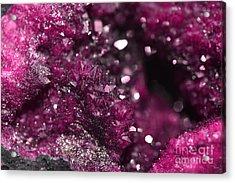 Geode Abstract Raspberry Acrylic Print