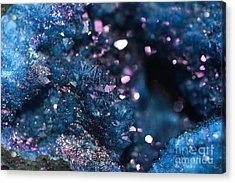 Geode Abstract Teal Acrylic Print