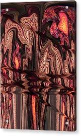 Geodes Acrylic Print by Digital Art Cafe