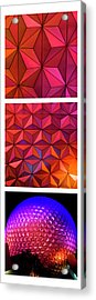 Acrylic Print featuring the photograph Geodesic Glow by Christi Kraft