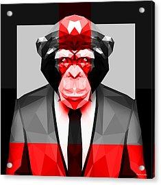 Geometric Ape Acrylic Print by Gallini Design