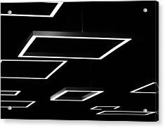 Geometric Light Fixtures At Waukesha State Bank Acrylic Print