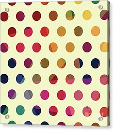 Acrylic Print featuring the mixed media Geometric Dots by Carla Bank