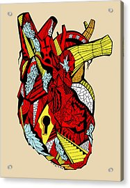 Geometric Heart Acrylic Print by Kenal Louis