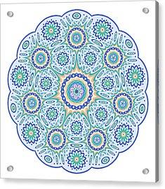 Geometric Mandala Acrylic Print by David Zydd