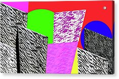 Geometric Shapes 1 Acrylic Print by Bruce Iorio