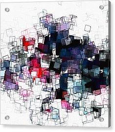Geometric Skyline / Cityscape Abstract Art Acrylic Print