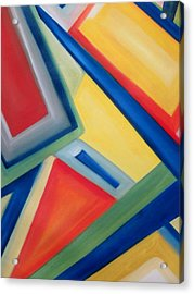 Geometric Tension Series IIi Acrylic Print by Patricia Cleasby