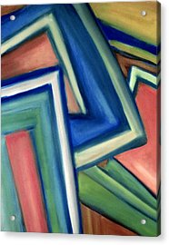 Geometric Tension Series Iv Acrylic Print by Patricia Cleasby