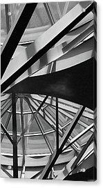 Geometry In Black And White Acrylic Print by Winnie Chrzanowski