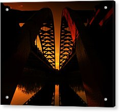 Geometry In Steel Acrylic Print