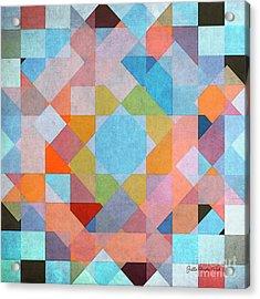Acrylic Print featuring the digital art Geometry by Jutta Maria Pusl