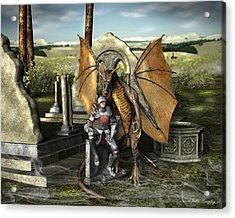 George And The Dragon Acrylic Print