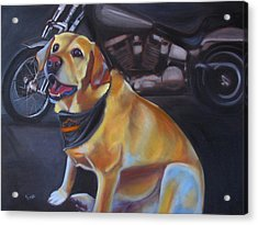 George And The Harley Acrylic Print