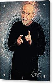 George Carlin Acrylic Print by Taylan Apukovska