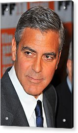 George Clooney At Arrivals For The Acrylic Print