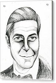 George Clooney Acrylic Print by Genevieve Esson