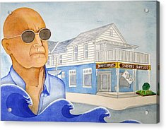 Acrylic Print featuring the painting George Gerlach by Paul Amaranto