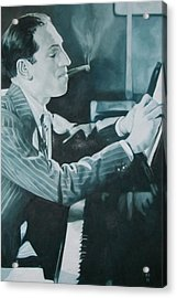 George Gershwin 1930s. Acrylic Print by Kevin Hopkins