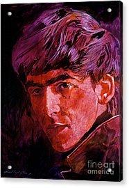 George Harrison Acrylic Print by David Lloyd Glover