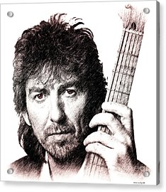 George Harrison Acrylic Print by Elaine Manley