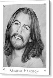 George Harrison Acrylic Print by Greg Joens