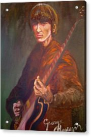 George Harrison Acrylic Print by Leland Castro