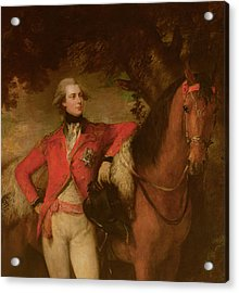 George Iv As Prince Of Wales Acrylic Print by Thomas Gainsborough