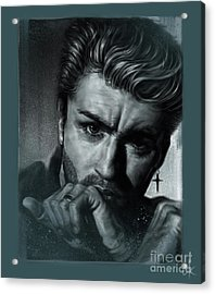George Michael Acrylic Print by Andre Koekemoer