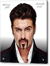 George Michael Tribute Acrylic Print