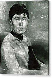 George Takei, Sulu From Star Trek Vintage Acrylic Print by Mary Bassett