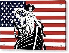 George Washington Acrylic Print by Aloysius Patrimonio