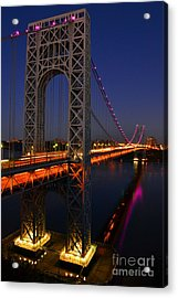 George Washington Bridge At Night Acrylic Print