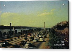 Acrylic Print featuring the photograph George Washington Bridge  by Cole Thompson