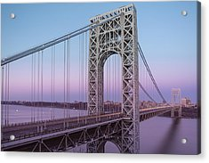 George Washington Bridge End Of Day Acrylic Print by Susan Candelario