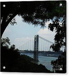George Washington Bridge Acrylic Print by Maria Scarfone