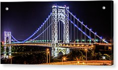 George Washington Bridge - Memorial Day 2013 Acrylic Print