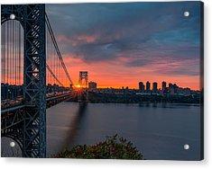 George Washington Bridge Acrylic Print
