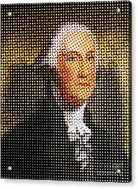 George Washington In Dots  Acrylic Print by Paulo Guimaraes