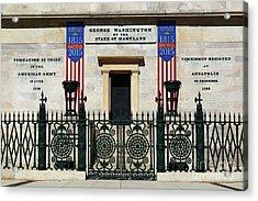George Washington Monument Military Career Baltimore Acrylic Print