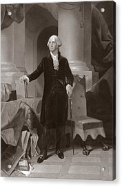 George Washington Acrylic Print by Peter Frederick Rothermel