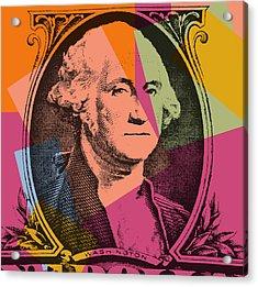 George Washington Pop Art Acrylic Print