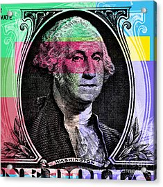 George Washington Pop Art Acrylic Print