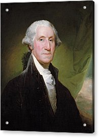 Acrylic Print featuring the painting George Washington Portrait by Gilbert Stuart