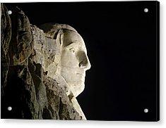George Washington Profile At Night Acrylic Print by David Lawson