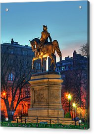 Acrylic Print featuring the photograph George Washington Statue In Boston Public Garden by Joann Vitali