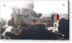 Georges Guynemer Nieuport 17 Acrylic Print by David Collins