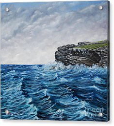 Georges Head Kilkee Oil Painting Acrylic Print by Avril Brand